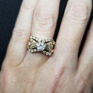Jewelry - Antique heirloom engagement wedding ring set